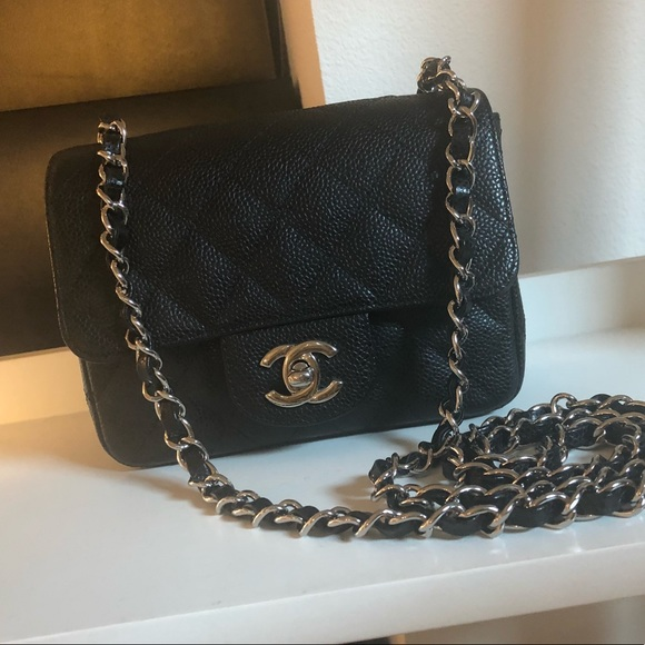 6ab5b342d93488 CHANEL Bags | Sold Auth Caviar Square Mini Crossbody | Poshmark
